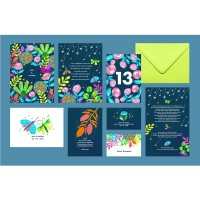 """Iris"" wedding stationery"