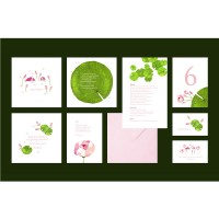 """Lilly"" wedding stationery"