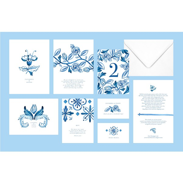 """Catarina"" wedding stationery"