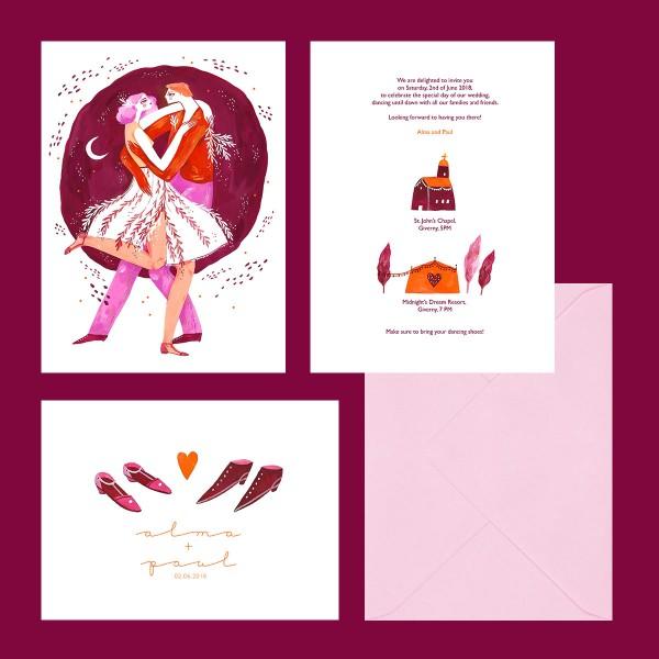 """Alma"" wedding stationery"