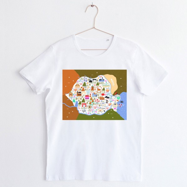 Map of Romania / Unisex TSHIRT