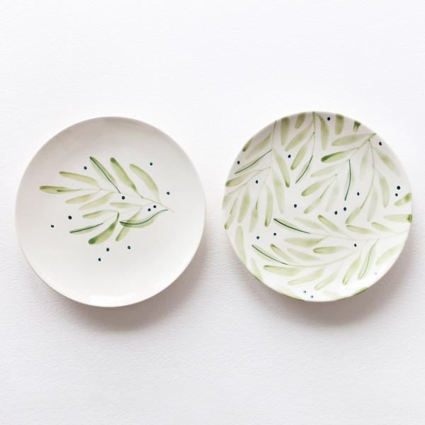 OLIVE SET /  2 x  Medium plate