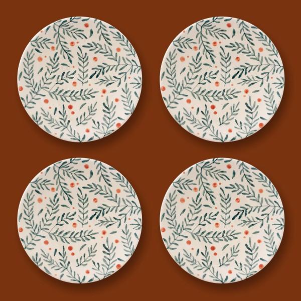 4 x Medium plate