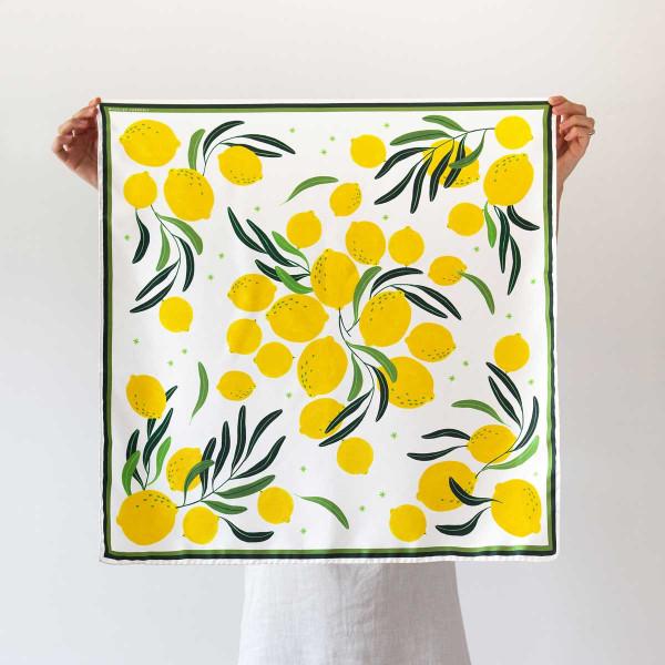 LIMONCELLO / medium silk scarf