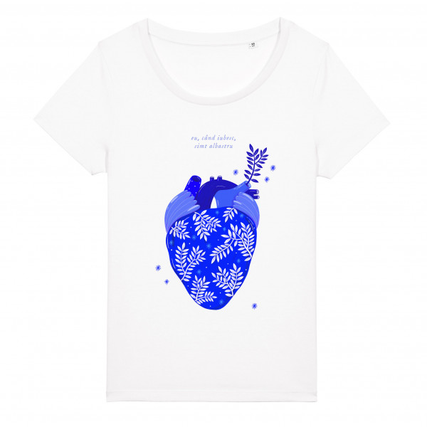 T-shirt Albastru: Inima