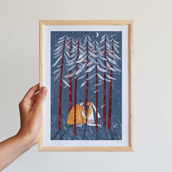 Framed mini-print / THE FIR CHURCH