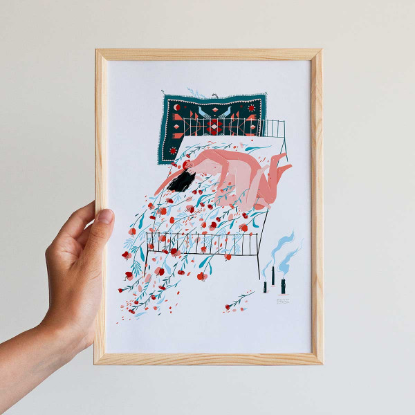 Framed mini-print / MIDNIGHT LOVERS