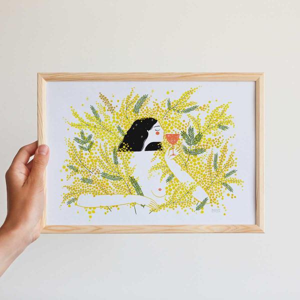 Framed mini-print / MIMOSA & MIMOSA