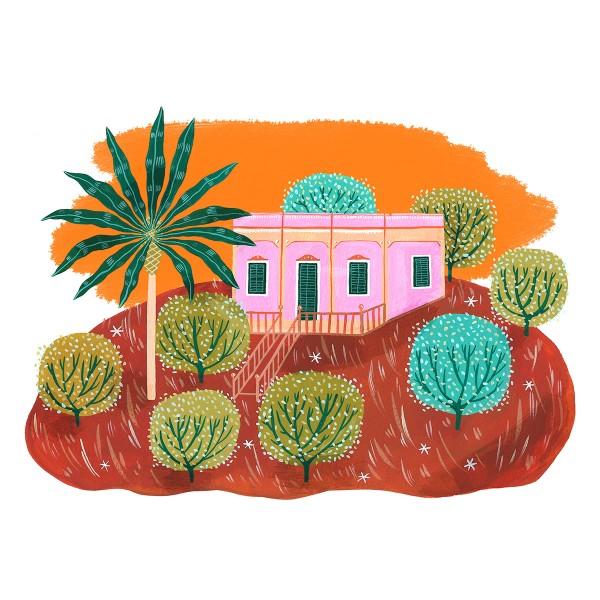 Pink Palazzo / #extraordinarylifeinpuglia Print