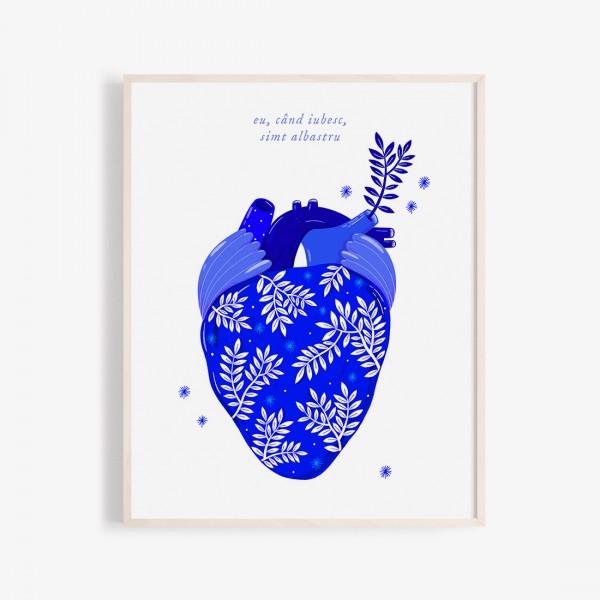 Albastru: Inima print