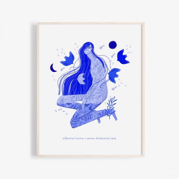 Albastru: Marea print