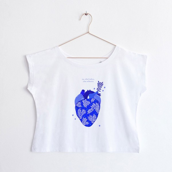 Albastru: Inima / oversized t-shirt