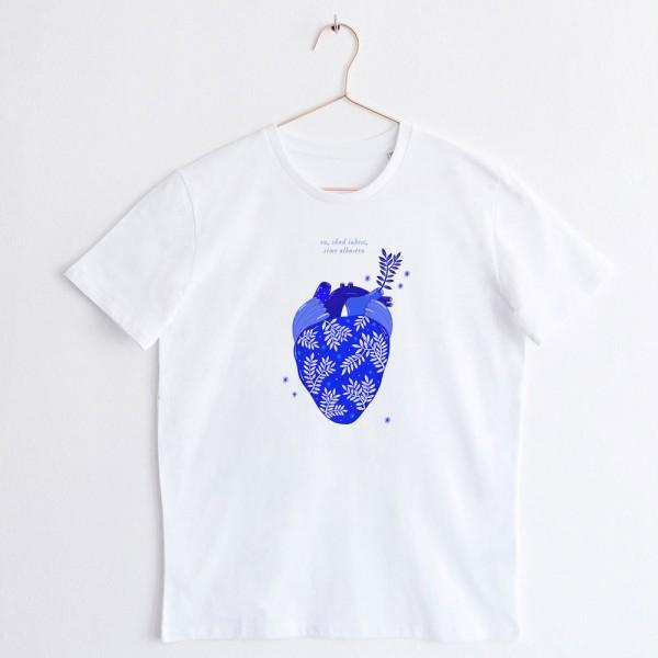 Albastru: Inima / UNISEX TSHIRT