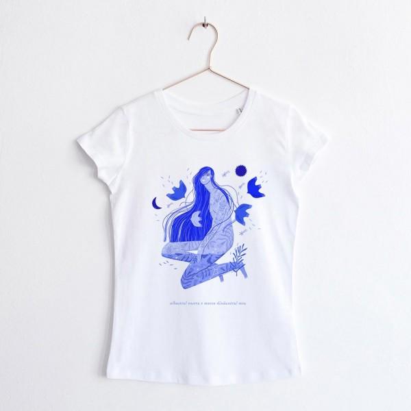 Albastru: Marea / round neck T-Shirt