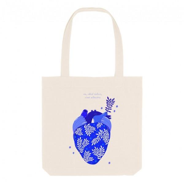 Albastru: Inima / Cotton Bag
