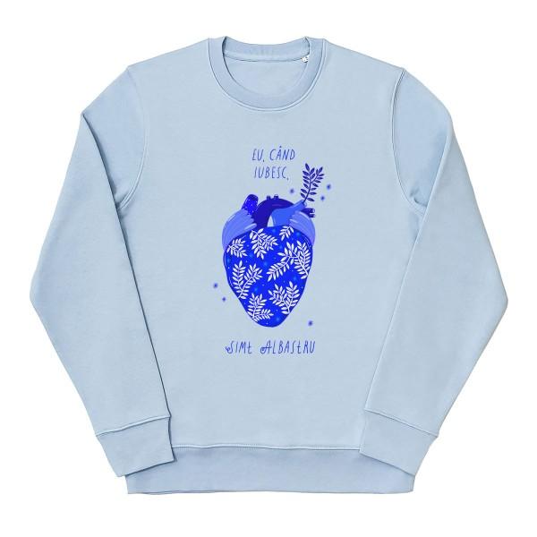 Albastru: Inima / Sweatshirt