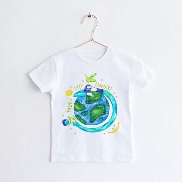 """KIDS T-shirt TSHIRT """"PASARI-LATI-LUNGILA"""" / ROUND NECK"""