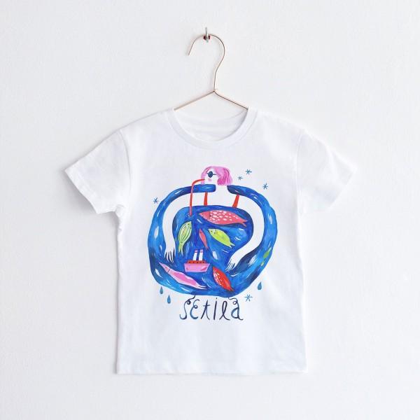 "KIDS T-shirt TSHIRT ""SETILA"" / ROUND NECK"