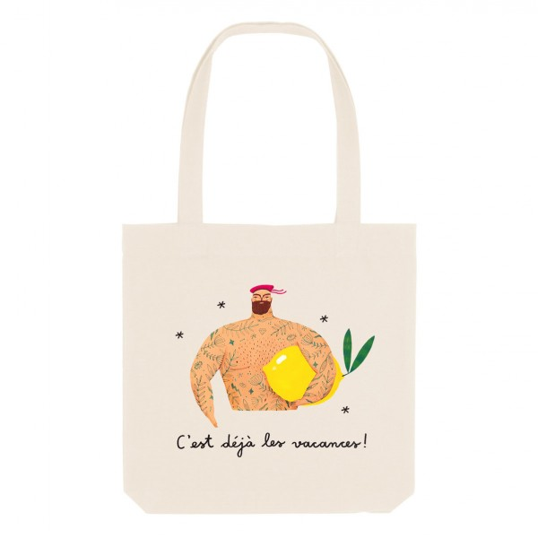 LEMON / medium tote bag