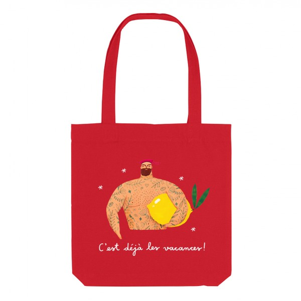 LEMON / medium tote bag