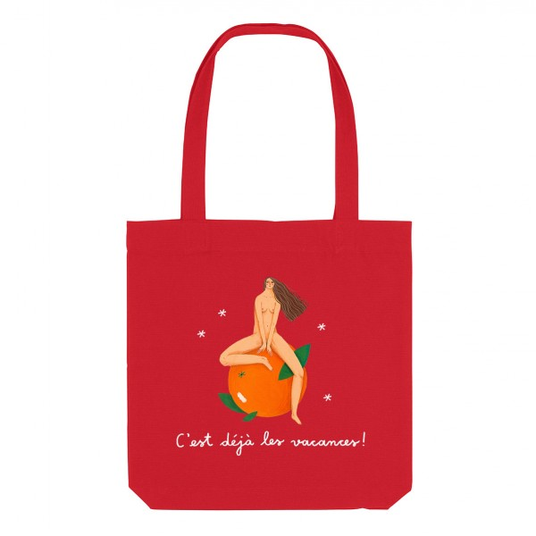 ORANGE / medium tote bag