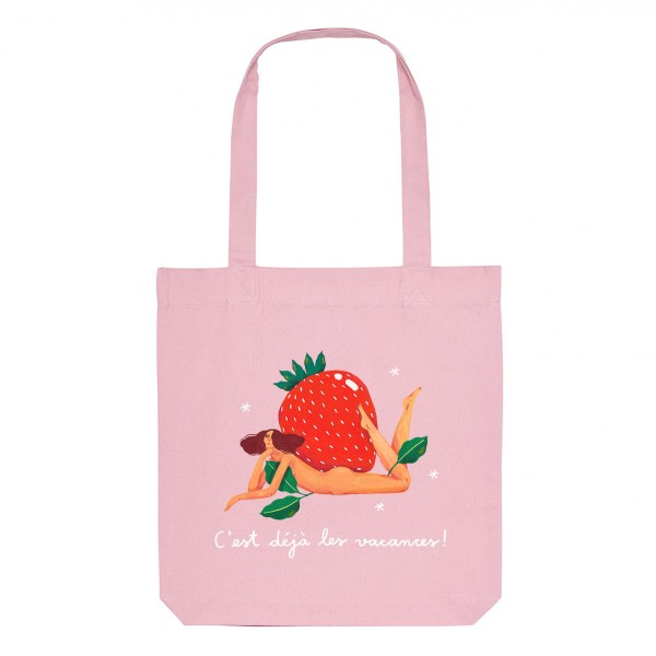 STRAWBERRY / medium tote bag