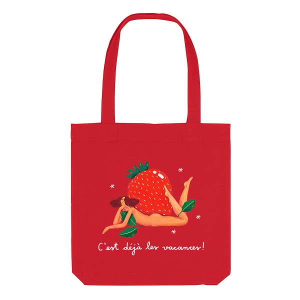 STRAWBERRY / medium tote bag