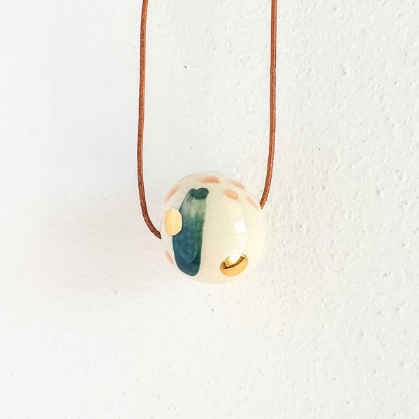 1 Bead Porcelain Necklace #1