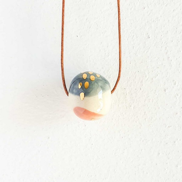 1 Bead Porcelain Necklace #11
