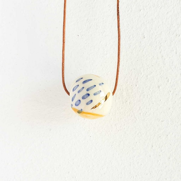 1 Bead Porcelain Necklace #2