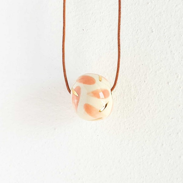 1 Bead Porcelain Necklace #5