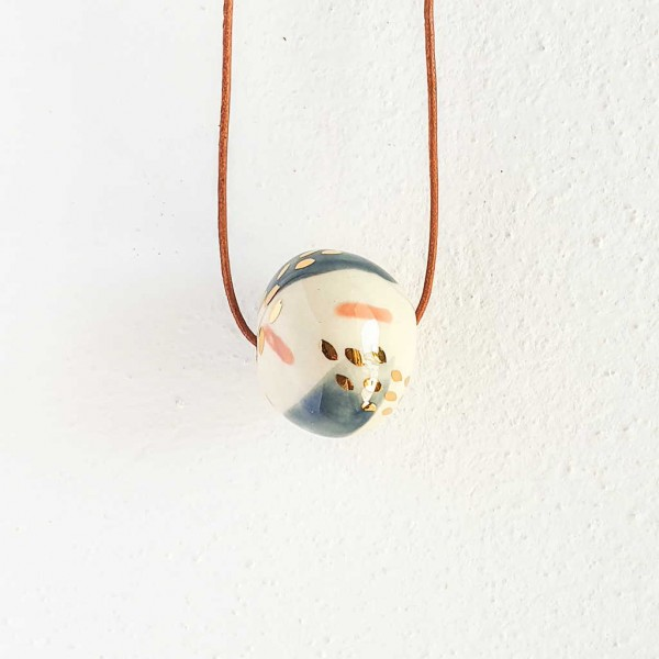 1 Bead Porcelain Necklace #7