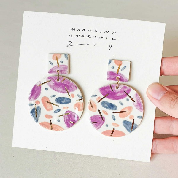 RITA / PORCELAIN EARRINGS