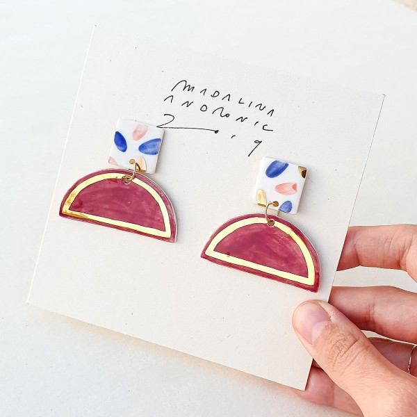 UMA / PORCELAIN EARRINGS 1