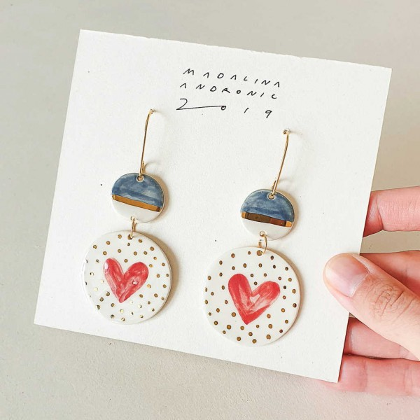 CHLOE / PORCELAIN EARRINGS 1