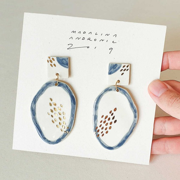 GLORIA / PORCELAIN EARRINGS 3