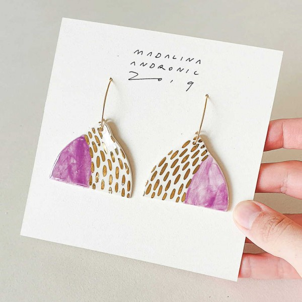 EVA / PORCELAIN EARRINGS 1