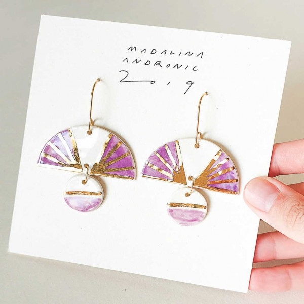 ELOISE / PORCELAIN EARRINGS 2