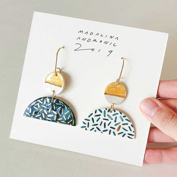 EMILIA / PORCELAIN EARRINGS 1
