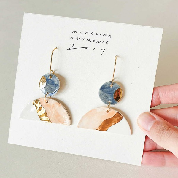 EMILIA / PORCELAIN EARRINGS 2