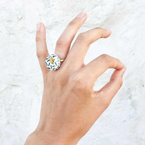 Adjustable Porcelain Ring #10