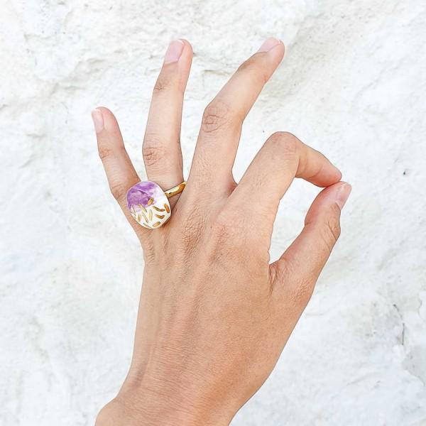 Adjustable Porcelain Ring #1