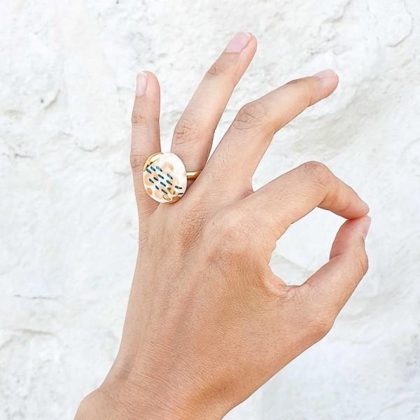Adjustable Porcelain Ring #2