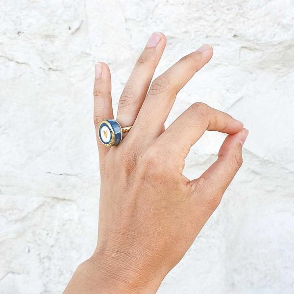 Adjustable Porcelain Ring #3