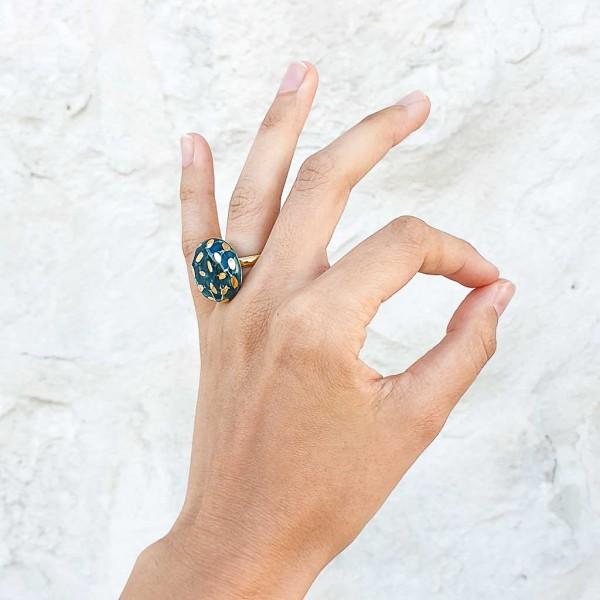 Adjustable Porcelain Ring #5