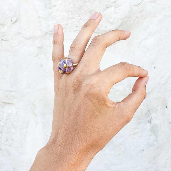 Adjustable Porcelain Ring #7