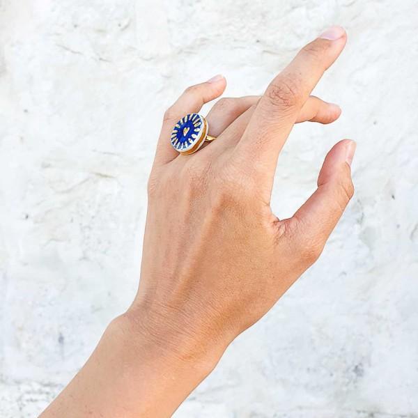 Adjustable Porcelain Ring #9
