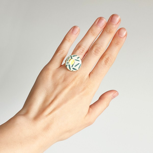 Adjustable Porcelain Ring #10
