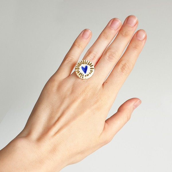 Adjustable Porcelain Ring #11