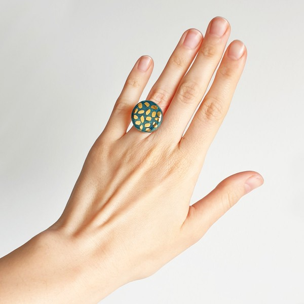 Adjustable Porcelain Ring #5
